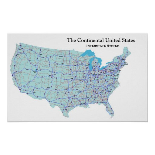 USA Interstate System Print