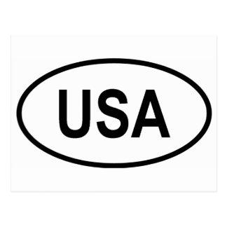 USA Int'l Vehicle Registration Code Postcard