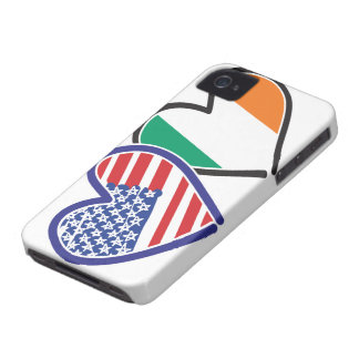 USA Ireland Heart Flags Case-Mate iPhone 4 Case