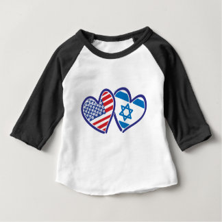 USA---Israel-Love-final Baby T-Shirt