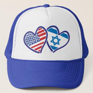 USA---Israel-Love-final Trucker Hat