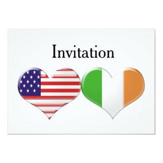 USA & Italian Hearts Wedding/Engagement Invitation