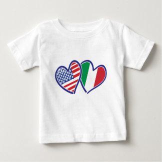 USA---Italy-Love Baby T-Shirt