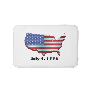 USA july 4 1776 Bath Mats