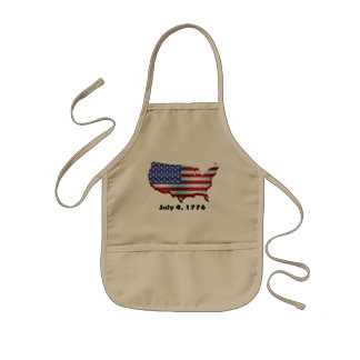 USA july 4 1776 Kids Apron