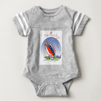 USA kicked in the grass, tony fernandes Baby Bodysuit