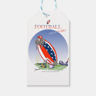 USA kicked in the grass, tony fernandes Gift Tags