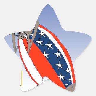 USA kicked in the grass, tony fernandes Star Sticker