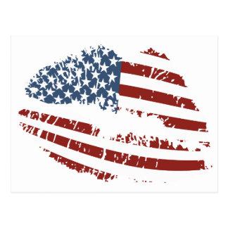 USA Kiss Postcard