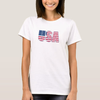 USA Ladies Baby Doll (02) T-Shirt