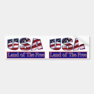 USA - LAND OF THE FREE BUMPER STICKER