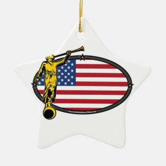 USA LDS Mission Oval no Label Ceramic Star Decoration