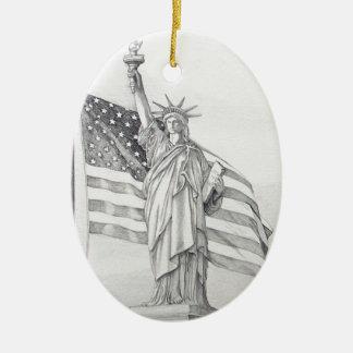 USA Liberty Ornament