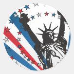 USA Liberty Round Stickers