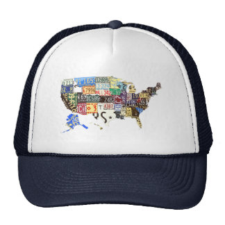 USA license plates - all states vintage Hats
