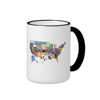 USA license plates - all states vintage Mug