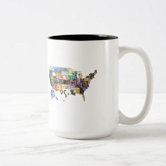 USA license plates - all states vintage Coffee Mug