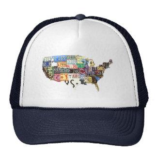 USA license plates vintage Mesh Hat