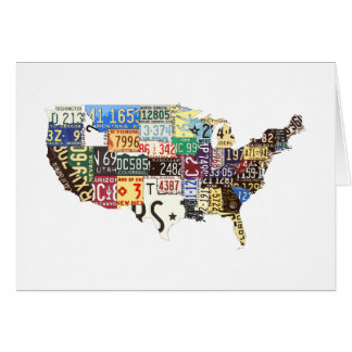 USA license plates vintage Note Card