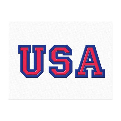 USA Logo Wall Canvas Gallery Wrapped Canvas