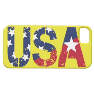 USA Logo, Yellow iPhone 5/5S Case, Barely There iPhone 5 Covers