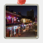 USA, Louisiana, New Orleans. French Quarter, Silver-Colored Square Decoration