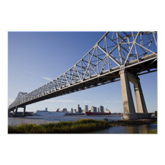 USA, Louisiana, New Orleans. Skyline from the 2 Poster