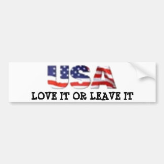 USA love it or leave it Bumper Sticker