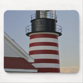 USA, Maine, Lubec. West Quoddy Head Lighthouse, Mousepad