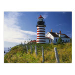 USA, Maine, Lubec. West Quoddy Head Lighthouse Post Cards