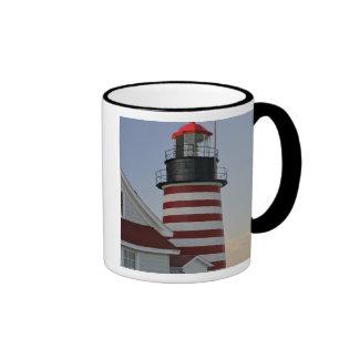 USA, Maine, Lubec. West Quoddy Head Lighthouse, Ringer Mug