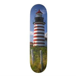 USA, Maine, Lubec. West Quoddy Head Lighthouse 21.3 Cm Mini Skateboard Deck
