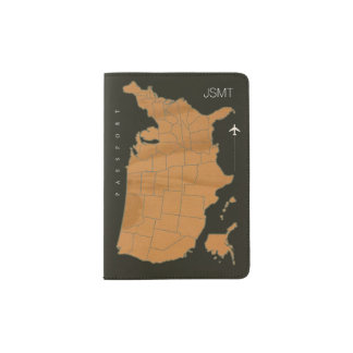 USA map, american travel cool Passport Holder
