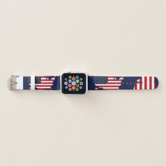 USA Map Apple Watch Band