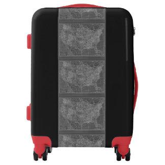 USA Map Carryon Luggage