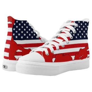 USA Map High Tops