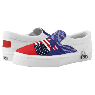 USA Map Slip On Shoes