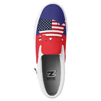 USA Map Slip-On Shoes