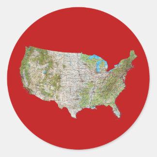 USA Map Sticker