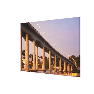 USA, Maryland, Annapolis. Severn River bidge, Gallery Wrap Canvas