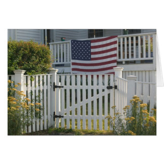 USA, Massachusettes, Gloucester: Patriotic Fence Card