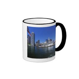 USA, Massachusetts, Boston skyline and Financial Ringer Mug