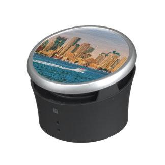 USA, Massachusetts. Boston Waterfront Panorama Bluetooth Speaker
