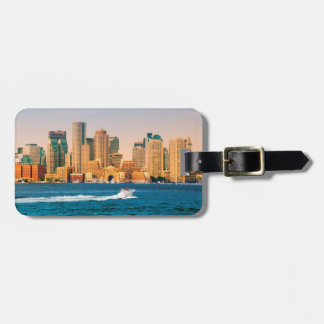 USA, Massachusetts. Boston Waterfront Panorama Tag For Bags