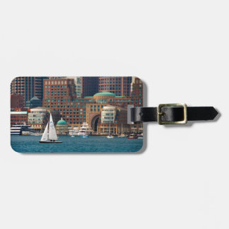 USA, Massachusetts. Boston Waterfront Skyline 2 Tag For Bags