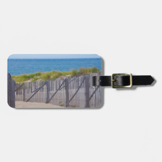 USA, Massachusetts. Dunes And Path Tag For Bags