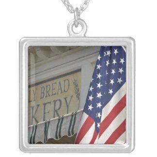 USA; Massachusetts; Stockbridge; Daily Bread Square Pendant Necklace