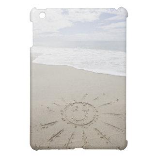 USA, Massachusetts, Sun drawn on sandy beach iPad Mini Case
