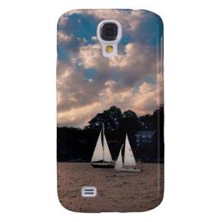 USA, Massachusetts. Sunset Sailing Galaxy S4 Cover