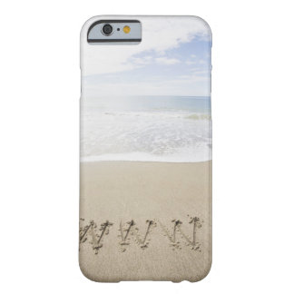 USA, Massachusetts, WWW drawn on sandy beach Barely There iPhone 6 Case
